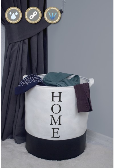 Rope Home 2'li Beyaz Silindir Sepet