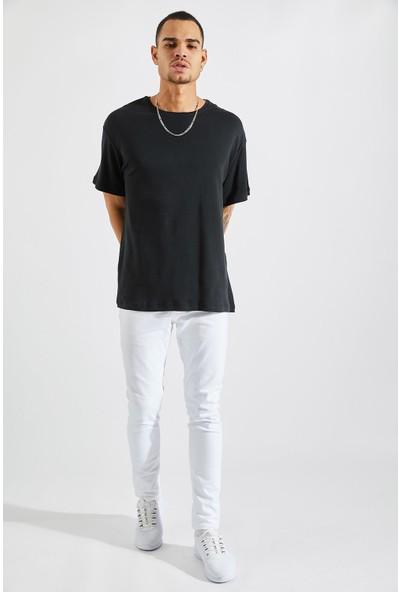 Zafoni Erkek Oversize Siyah Tişört P-00008028