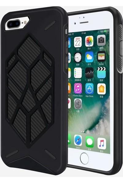 i-Stone I Stone Spider Çift Katmanlı Tank Kılıf Apple iPhone 8 Siyah