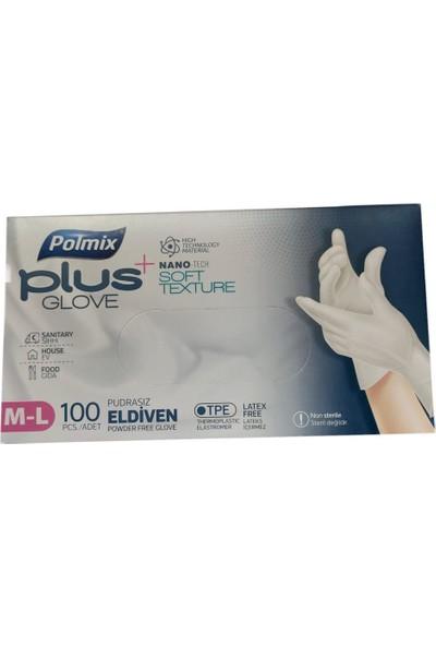 Polmix Poşet Eldiven Beyaz Polmix Plus 1 Kutu (100 'lü)