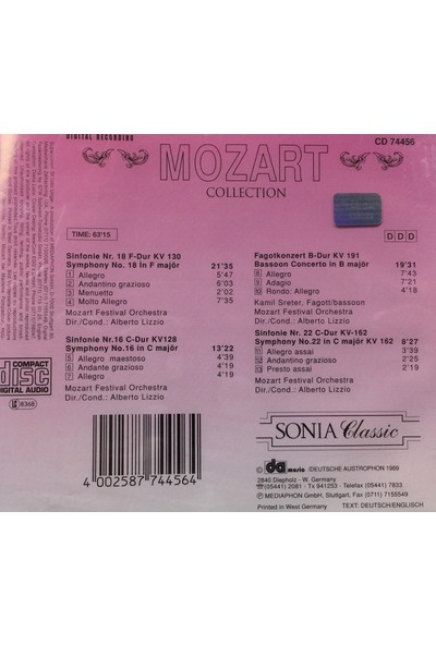 Mozart Collection - Frühe Sinfonien ( CD )