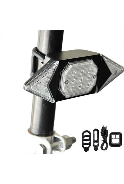Buyfun Dönüş Sinyalleri Bisiklet Kuyruk Işık USB Şarj