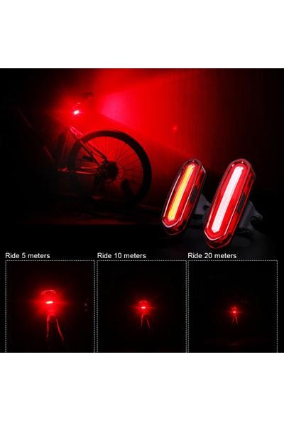 Buyfun Bisiklet Kuyruk Işık USB Şarj Uyarı Işığı Bisiklet