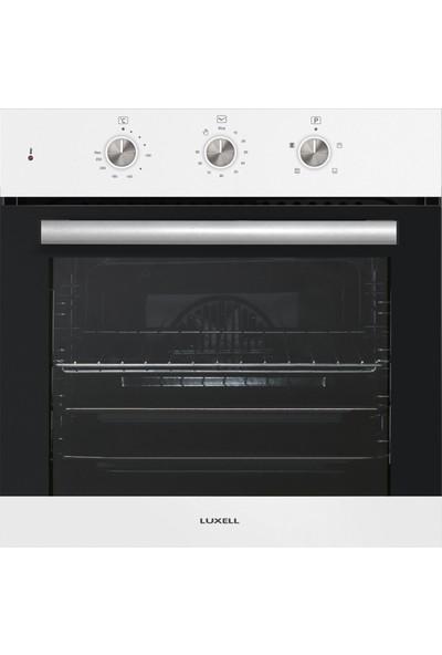 Luxell White Argento Plus 3'lü Ankastre Set (LX-A6SF mt Fırın - LX-40TAHDF Ocak - LX-735 Davlumbaz)