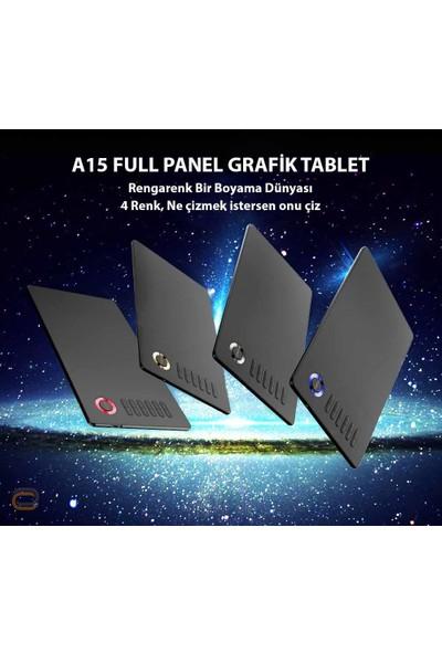 Veikk A15 8192 Levels Zoom Uyumlu 5080LPI Grafik Tablet+Kalem
