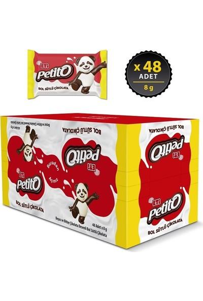 Eti Petito Bol Sütlü Çikolata 8 g x 48 Adet