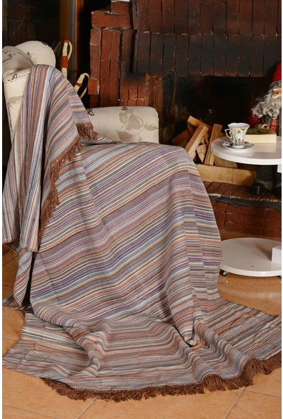 Dolce Bonita Home Aksu Luka Pike Battaniye 150 x 200 cm Lila