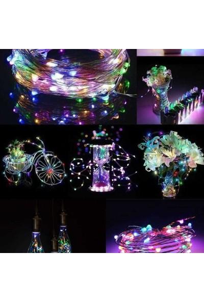 Zabata 10 Metre Şerit Rgb Peri LED Iç Mekan Pilli Işık Dekor Aydınlatma Işığı Ledli Renkli Süsleme Lamba