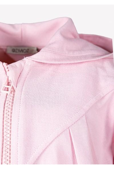 Ozmoz Organik Kapüşonlu Kız Çocuk Ceket