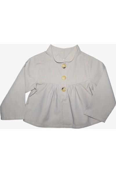 Ozmoz Kız Bebek Volanlı Baharlık Gömlek