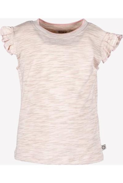 Ozmoz Kız Çocuk Yazlık Fırfırlı Organik T-Shirt