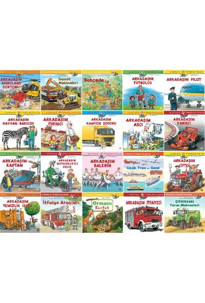 Dünyayı Öğreniyorum Serisi 20 Kitap Set - Arkadaşım Ambulans Doktoru - Inşaat Makineleri - Futbolcu - Pilot - Fırıncı - Kamyon Şoförü - Aşçı - Yarışçı - Kaptan - Balerin - Çiftçi - Temizlik Işçisi
