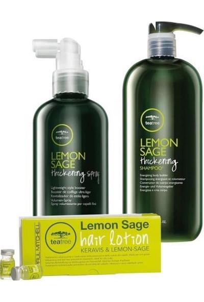 Paul Mitchell Tea Tree Lemon Sage Losyon 12X6 Ml+Sprey 200 Ml+Şampuan 1000 ml