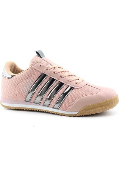 Liger 3217 Kadın Spor Ayakkabı-Pudra Gümüş