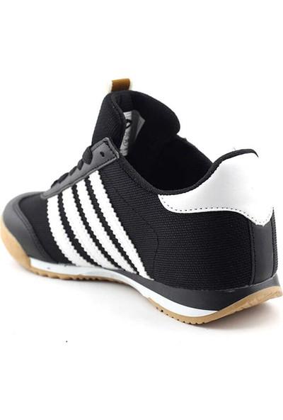 Liger 3217 Kadın Spor Ayakkabı-Siyah Beyaz