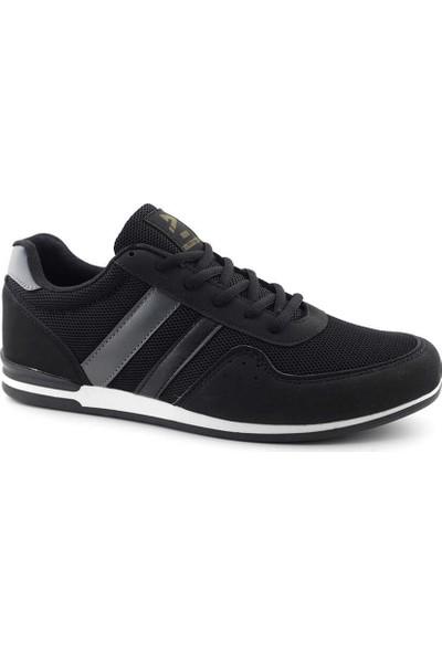 Liger 3035 Erkek Spor Ayakkabı-Siyah Füme Beyaz