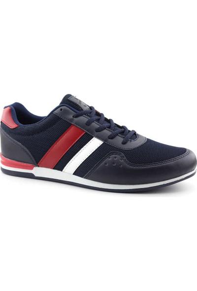 Liger 3035 Erkek Spor Ayakkabı-Lacivert Kırmızı Beyaz