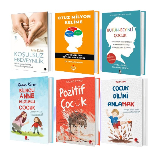 Çocuk Gelişimi Seti Koşulsuz Ebeveynlik – Otuz Milyon Kelime – Bütün Beyinli Çocuk – Bilinçli Anne Huzurlu Çocuk – Pozitif Çocuk – Çocuk Dilini Anlamak