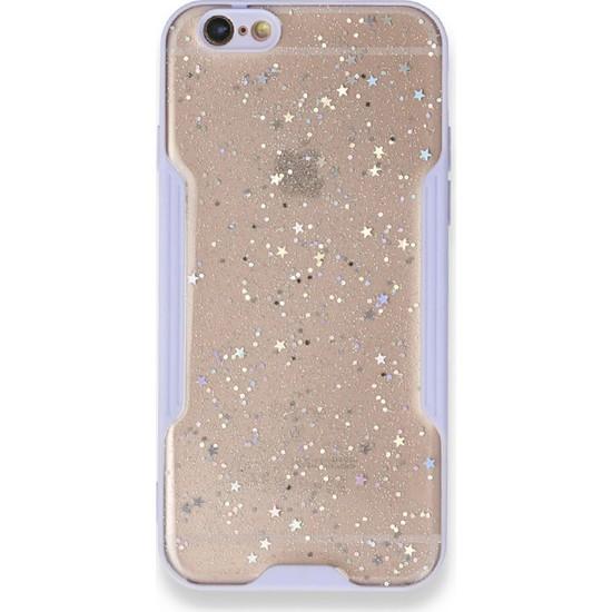 Moserini iPhone 6 / 6s Platin Silikon Silvery Lila Telefon Kılıfı - Simli