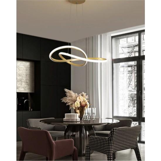 Burenzeluxury Modern Sarkıt Power LED Avize Gold Sarı BURENZE822