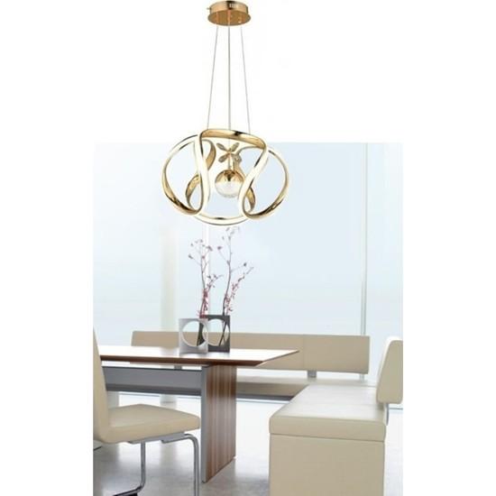 Burenze Luxury Modern Sarkıt LED Avize Gold Sarı BURENZE603