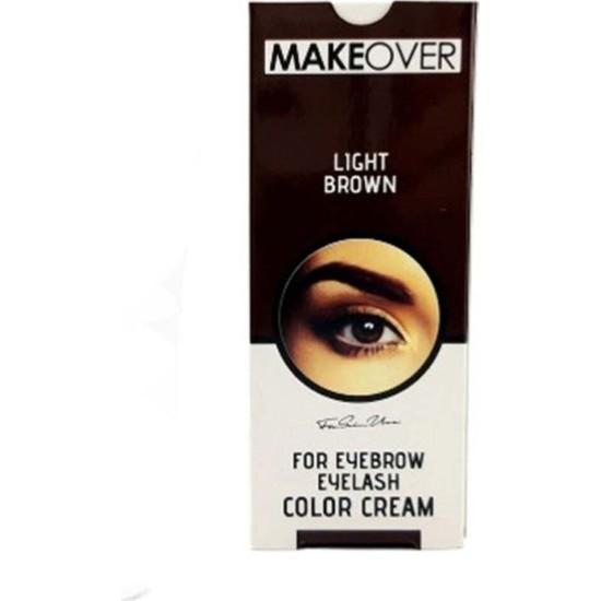 Makeover Açık Kahverengi Kaş Kirpik Boyasi