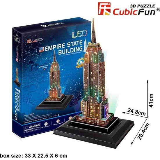 Cubic Fun 3d- 3 Boyutlu Puzzle Empire State Binası - Abd (Led Işıklı)