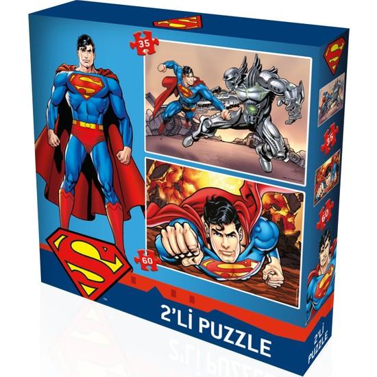 Yappuzz Puzzle Superman Art Lisanslı 50+100 Çocuk Puzzle