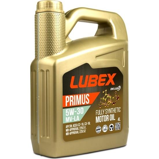 Lubex Primus 5W-30 MV-LA 4 Litre Motor Yağı ( Üretim Yılı: 2021 )