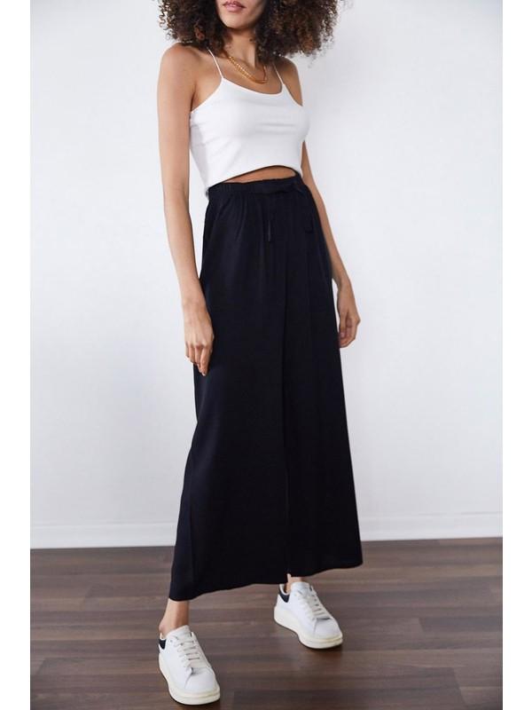 Miss Perry Kadın Siyah Bol Paça Pantolon