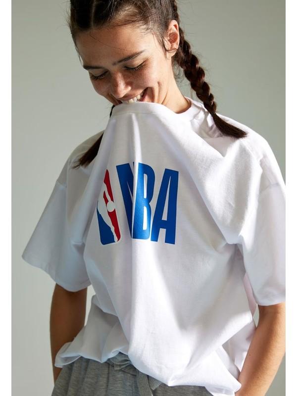 Defacto Nba Lisanslı Unisex Oversize Tişört