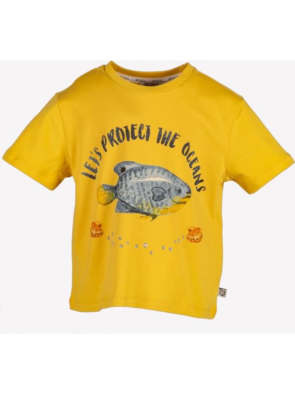 Ozmoz Balık Baskılı Çocuk Tshirt