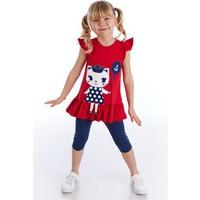 Denokids Denizci Kedi Kız Tunik Takım