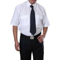 Arslan İş Elbiseleri Erkek Beyaz Kısa Kollu Özel Güvenlik Gömleği