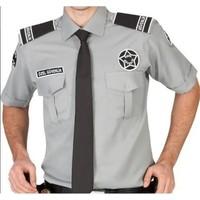 Arslan İş Elbiseleri Erkek Gri Kısa Kollu Özel Güvenlik Gömleği(Armalı)