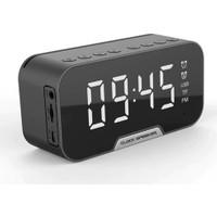 Exeo D88 Bluetooth Kablosuz Hoparlör Radyo Masa Saat Alarm LED