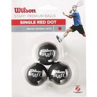 Wilson Squash Topu Staff Squash 3 Ball Red Dot WRT618200