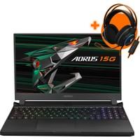 "Gigabyte Aorus 15G Intel Core I7 10870H 16GB 512GB SSD RTX 3060 Windows 10 Home 15.6"" FHD Taşınabilir Bilgisayar KC-8TR2130SH"
