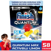 Finish Quantum Max Bulaşık Makinesi Deterjanı 58 Kapsül Limonlu