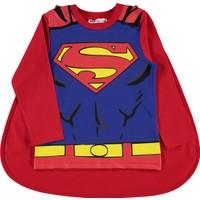 Superman Erkek Çocuk Pelerinli Sweatshirt 2-5 Yaş Kırmızı
