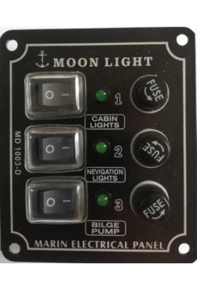Moonlight 3 Lü Dikey Switch Panel 12-24 Volt