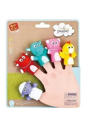 Ysn Toys Özel Seri 5.li Hayvanlı Parmak Kukla Seti