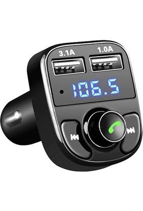 Bydiz Car X8 Araç Transmitter 3.1A Bluetooth Araç Kiti