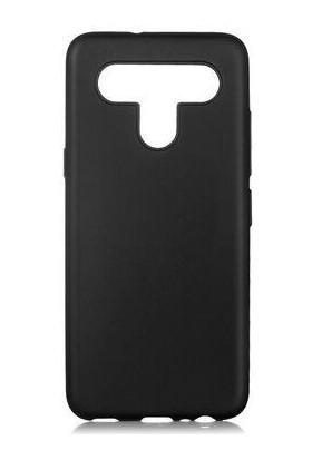 Zümrah Lg K41S Kamera Korumalı Renkli Silikon Kılıf Kapak Siyah
