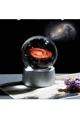 Lumenn Kristal Cam Küre-Gezegen Galaksi Renk Değiştiren Küre