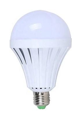 Ledsan 7 Watt 7 W E27 Şarjlı LED Ampul Beyaz Ledsan