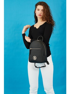 U.s. Polo Assn. US8709 Siyah Kadın Sırt Çantası