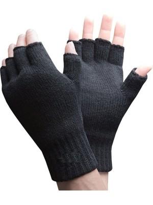 Atk Parmaksız Kesik Yarım Parmak Eldiven Bay Bayan (Unisex) Siyah