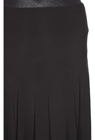 Eray Eray, Sandy Korsajı Modelli Parçalı Astarsız Siyah Etek