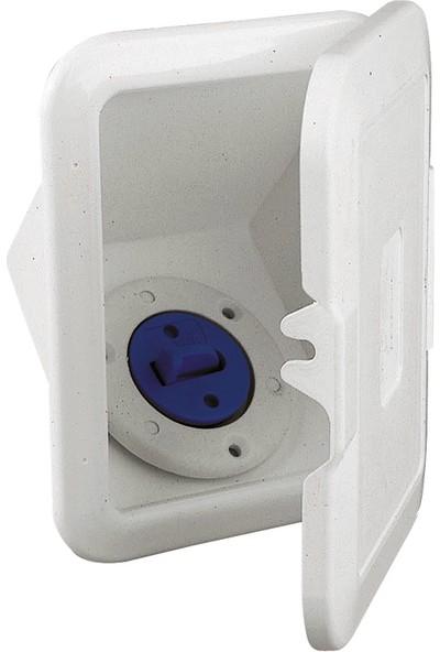 Nuova Rade Case W/deck Filler For Fuel, W/lid, Ø38MM Hose, White